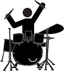 siloette-drummer-and-jazz-kit