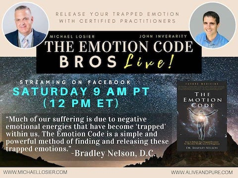 Episode #91 Night Sweats? Menopause Symptoms? Emotion Code Practitioners with Michael Losier and John Inverarity