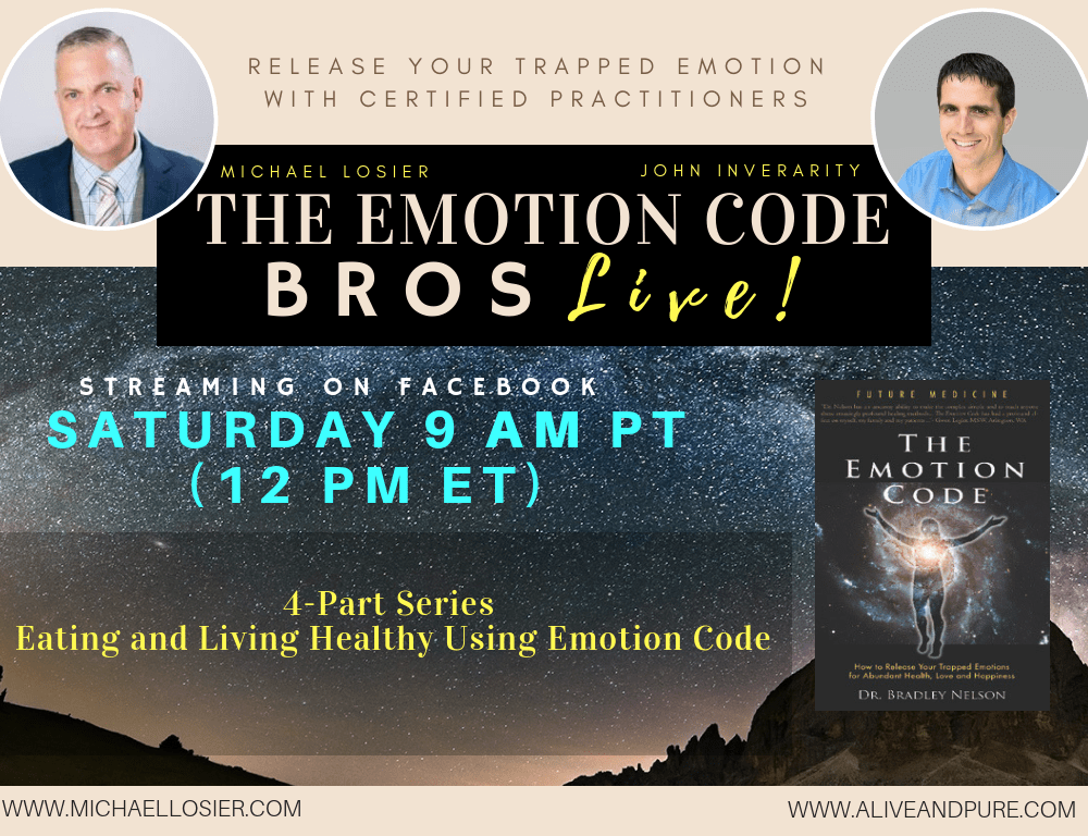 Episode #75 Part 3 of 4 The Eating and Living Healthy Series Emotion Code with Michael Losier and John Inverarity