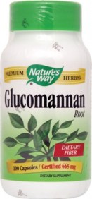 glucomannan bottle, natures way