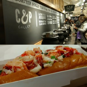 Cool, fresh lobster on crispy buttered bread from the Lobster Place