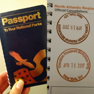 My national park passport and stamps! Unfortunately the stamp from Castle Clinton is upside down because I did not check prior to stamping.