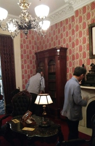 The drawing room inside Teddy Roosevelt's childhood home.