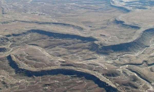 Un canale invertito sulla Terra, nello Utah.