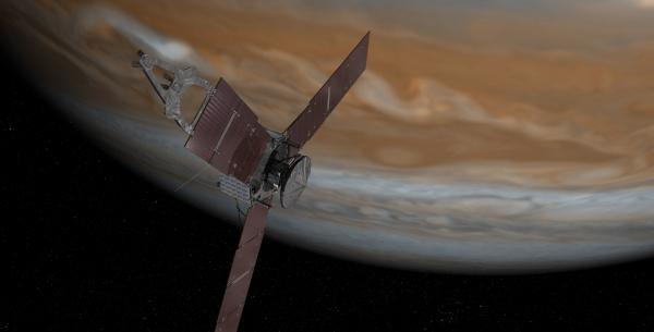 Juno al perigiove (ricostruzione artistica)