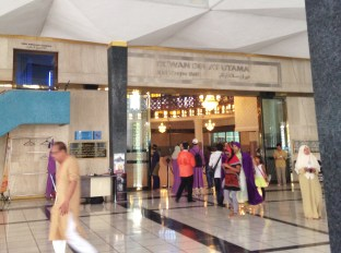 Tourists are not allowed to enter the main prayer hall