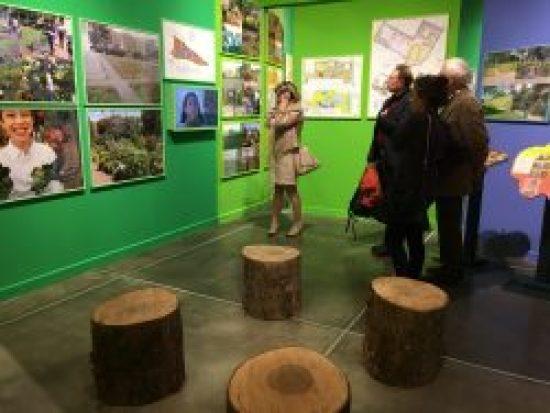 Visitors at Bonnie Ora's installation at PAV