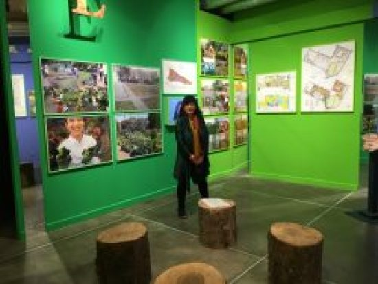 Bonnie Ora with her installation at PAV