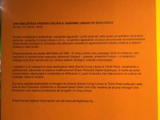 Description of the installation in Italian