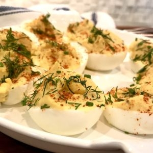 Paleo Classic Deviled Eggs - AlixBarth.com