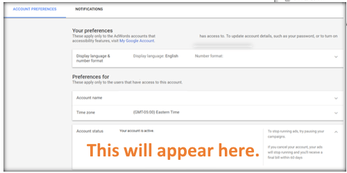 where to reactivate my google adwords account