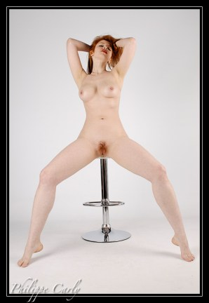 "Alixia Busch - ""Alixia"" - Clear Stool - Make-up self"