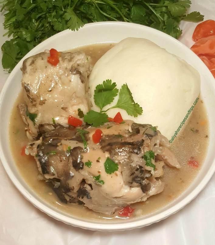 Nigerian White Soup (Ofe Nsala) -
