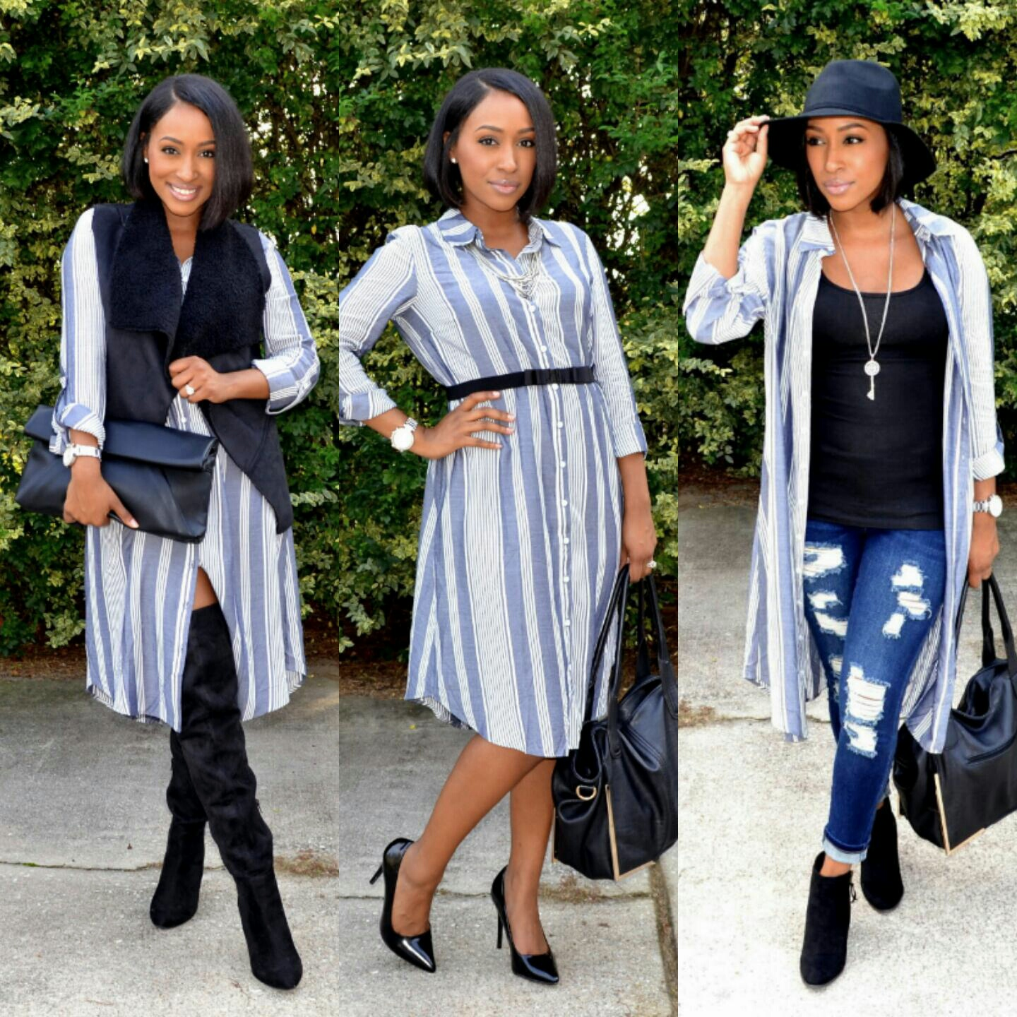 The Staple Edit: 1 Shirtdress, 3 Ways