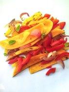 Sweet potato, butternut squash, sweet pepper, garlic and shallot