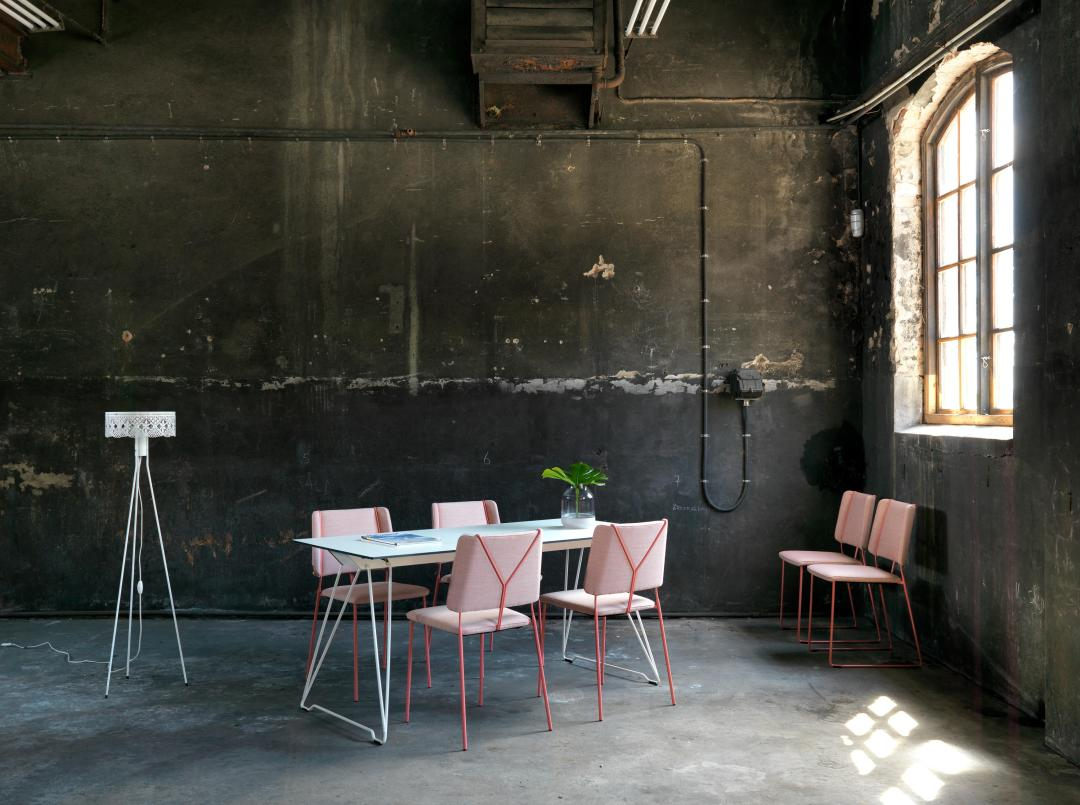 Frankie chair by Johanson | Millennial pink ideas for your perfect home