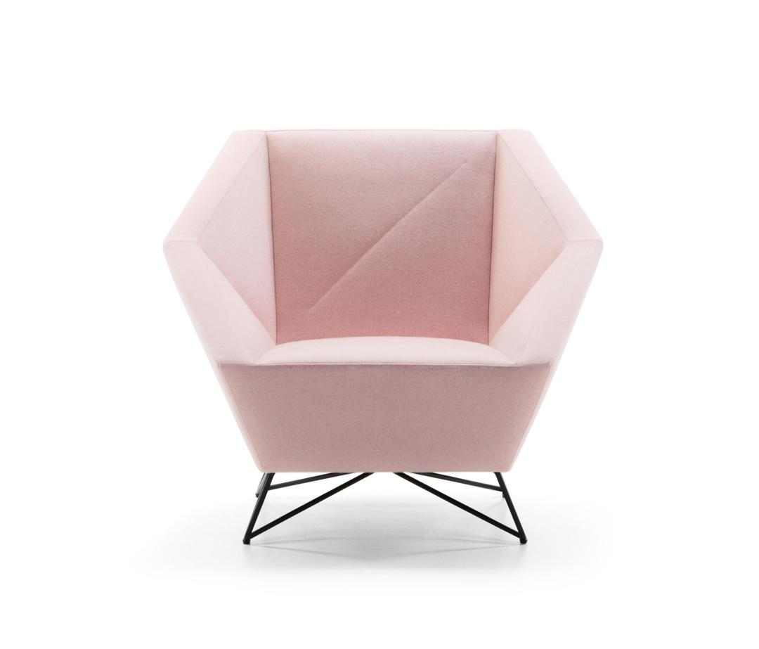 3angle armchair by Prostoria | Millennial pink ideas for your perfect home