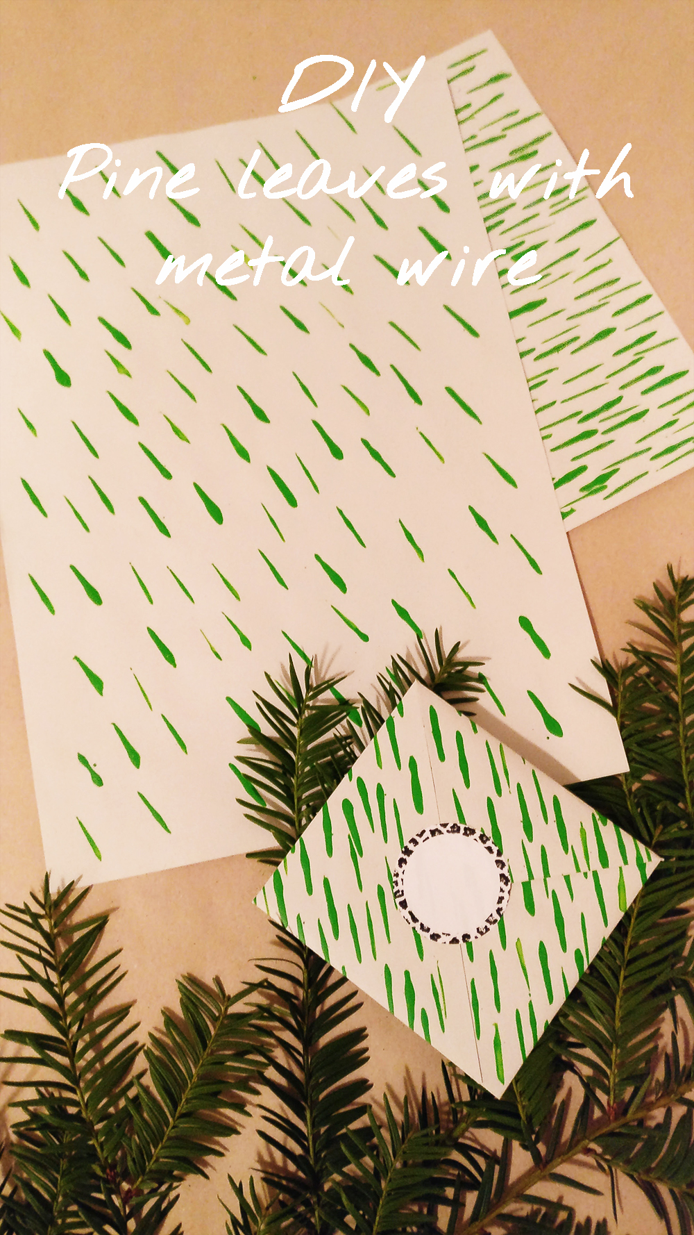 DIY Pine leaves with metal wire - with free printables | Aliz's Wonderland