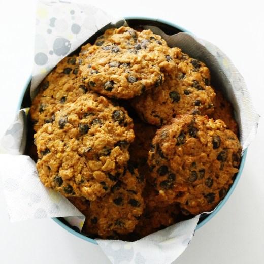 Pumpkin cookie with chocolate chips | Aliz's Wonderland