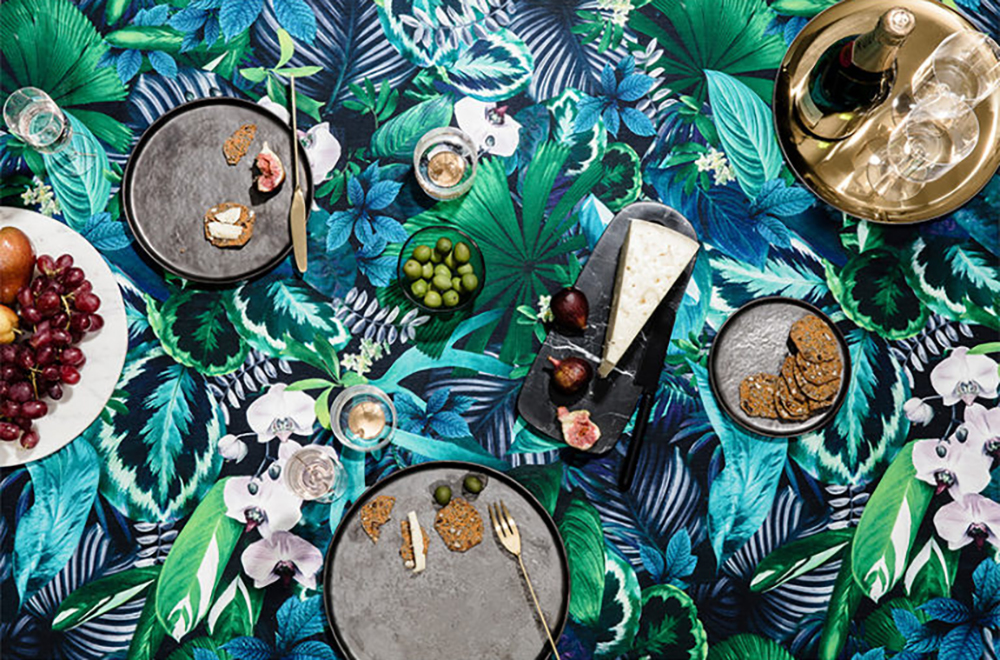 Basil Bangs Botanica tablecloth - Tropical kitchen - Transform your home into a tropical paradise | Aliz's Wonderland