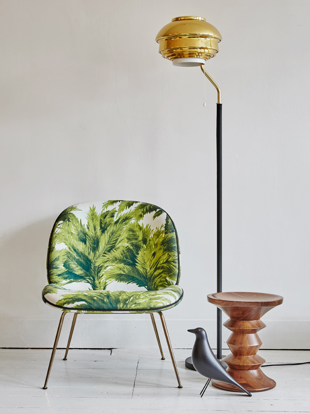 Gubi Beetle chair by GamFratesi - Tropical upholstery - Transform your home into a tropical paradise | Aliz's Wonderland