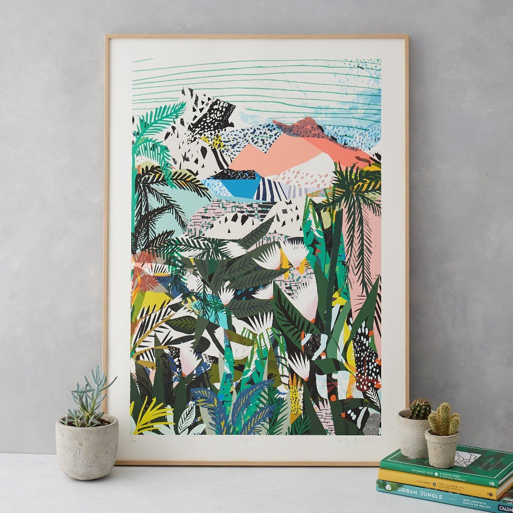 Utopia print by Kitty McCally - Paintings, prints inspired by jungle - Transform your home into a tropical paradise | Aliz's Wonderland