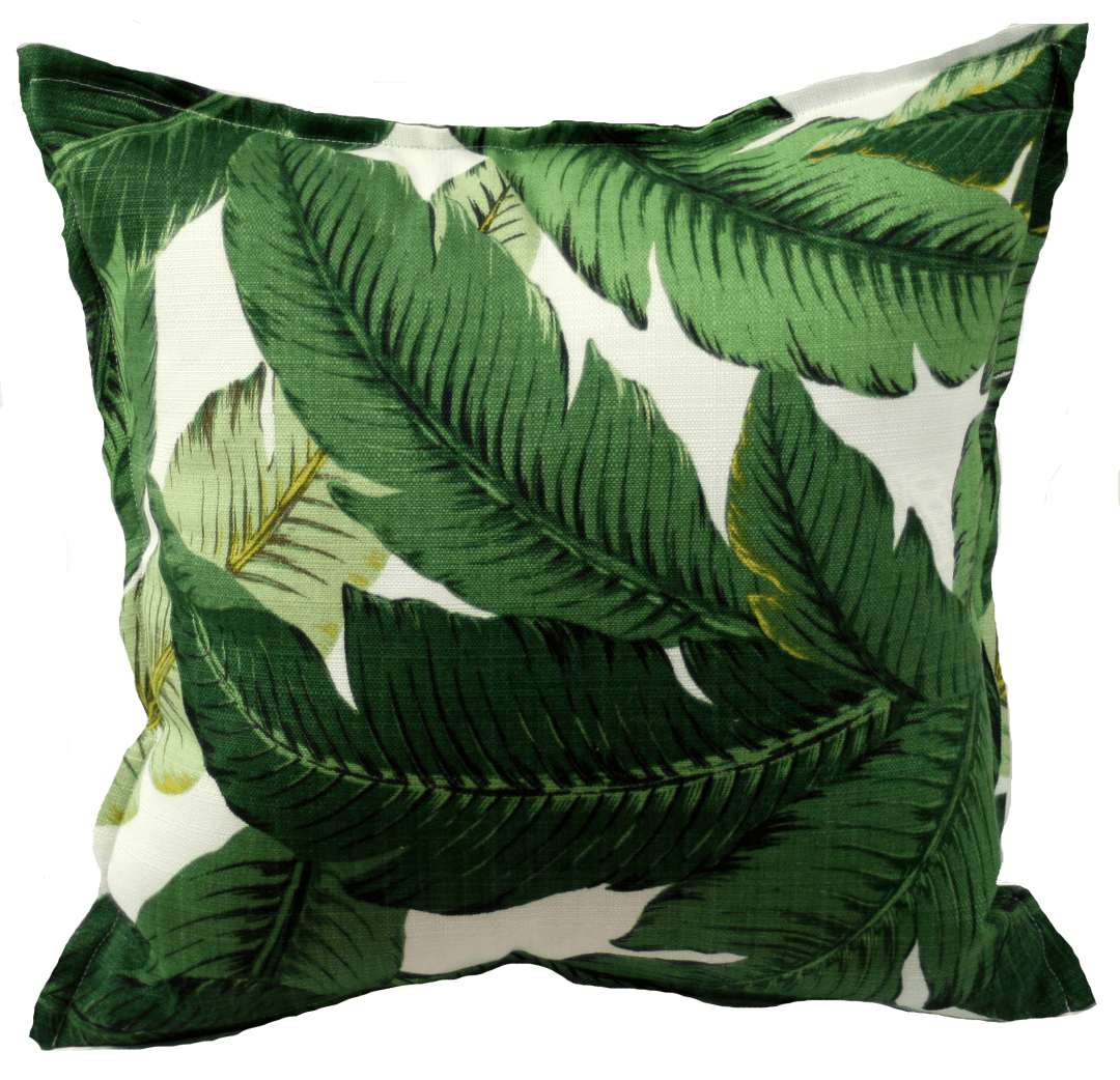 Oasis palm indoor/ outdoor cushion cover - Tropical bedroom- Transform your home into a tropical paradise | Aliz's Wonderland