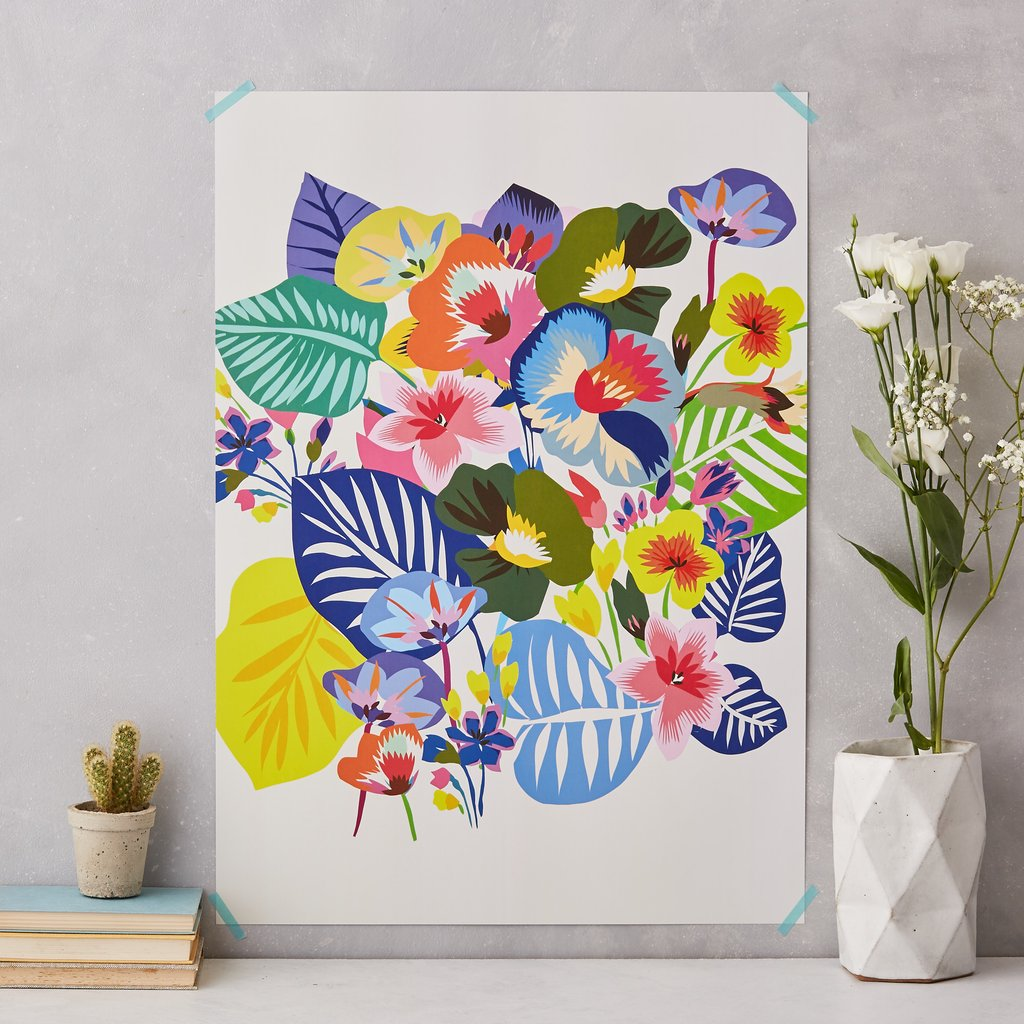 Kitty McCall's All the flowers print - How to give life to your interior with floral pattern? | Aliz's Wonderland