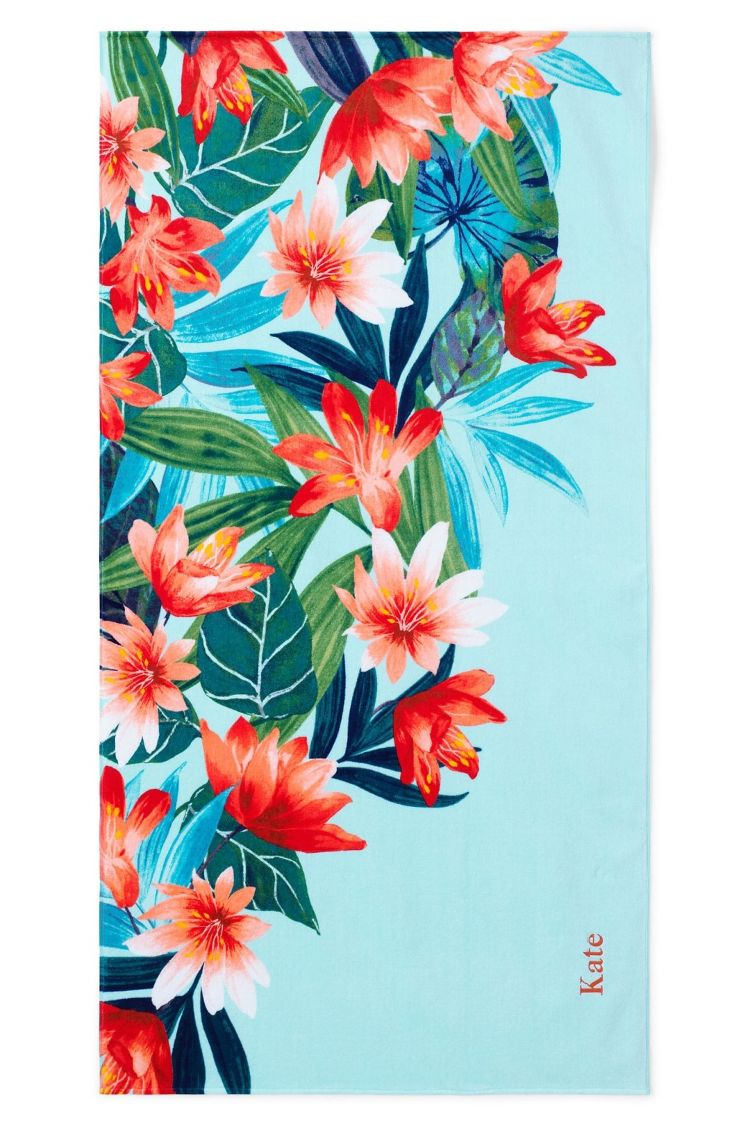 Paradise Floral print velour towel by Lands'end - How to give life to your interior with floral pattern? | Aliz's Wonderland