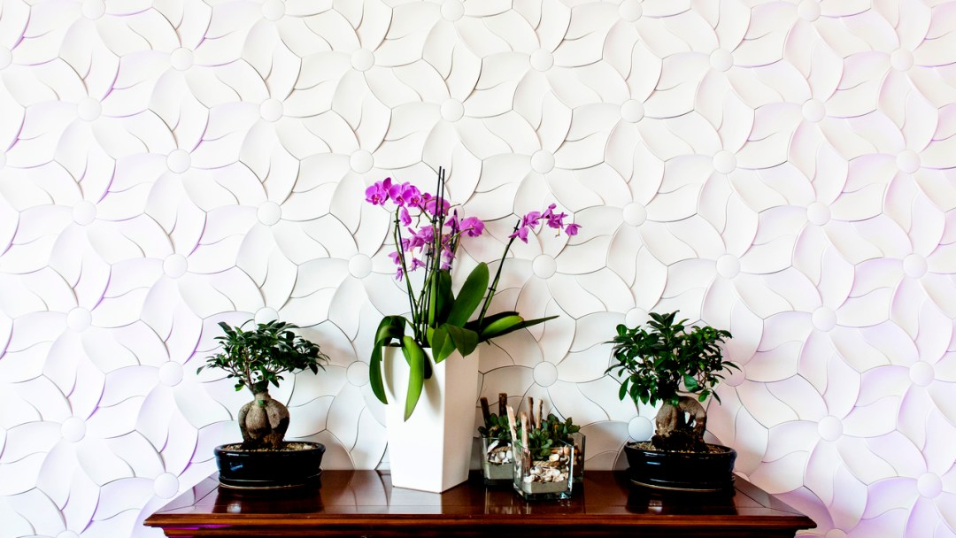 Floral texture from concrete by Kaza concrete - How to give life to your interior with floral pattern? | Aliz's Wonderland