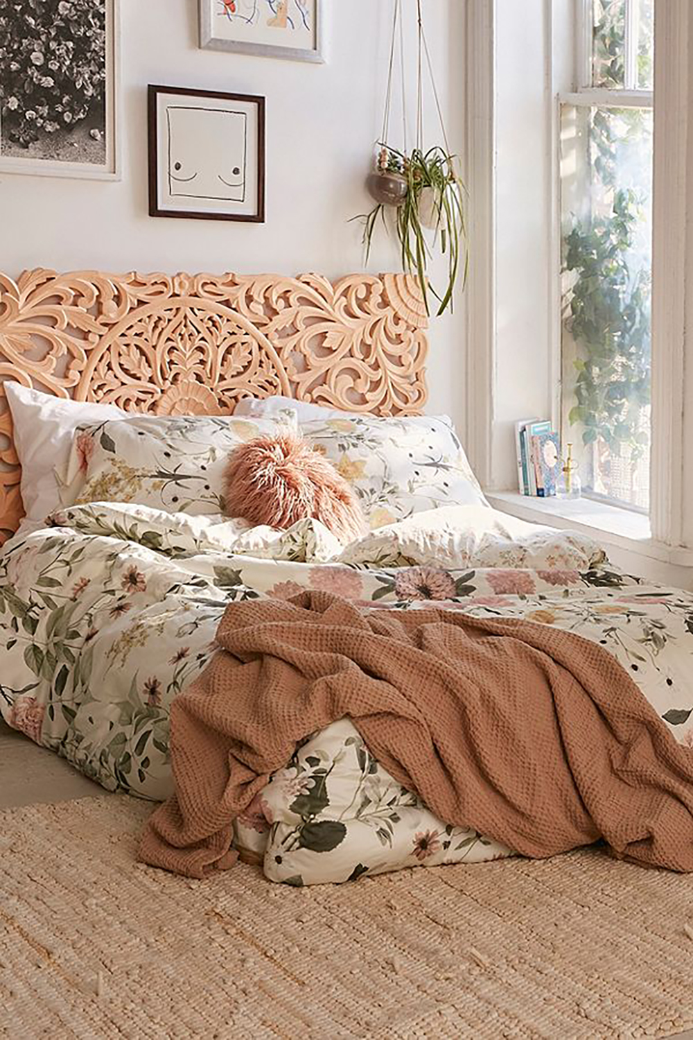 Cream Multi Daniella Floral Comforter by urban outfitters - How to give life to your interior with floral pattern? | Aliz's Wonderland