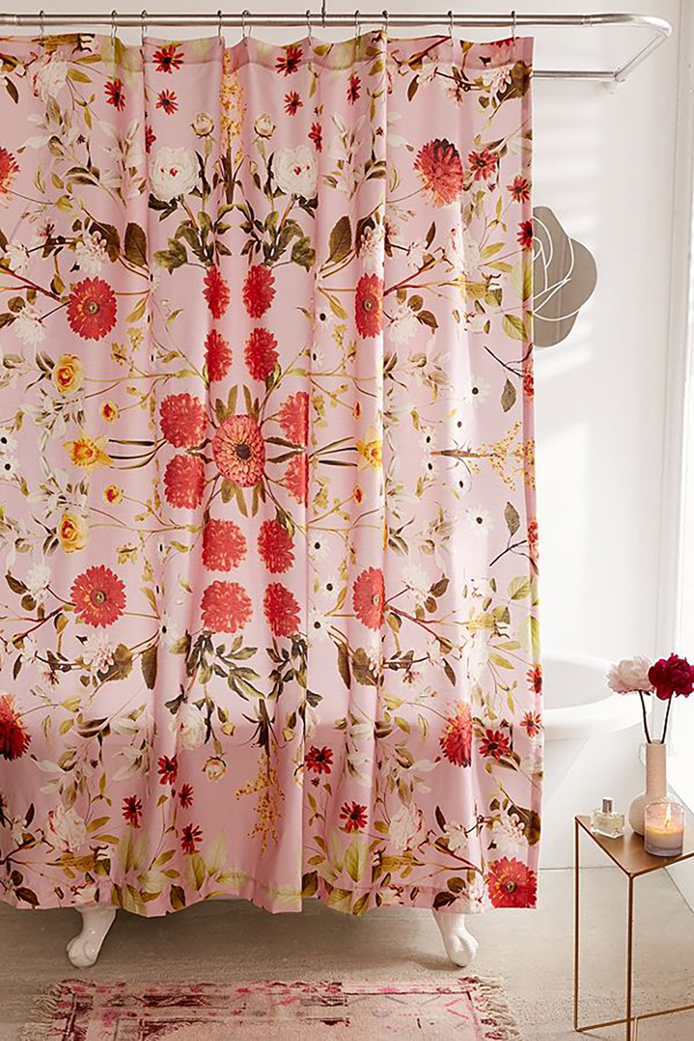 Daniella Floral Shower Curtain by urban outfitters - How to give life to your interior with floral pattern? | Aliz's Wonderland