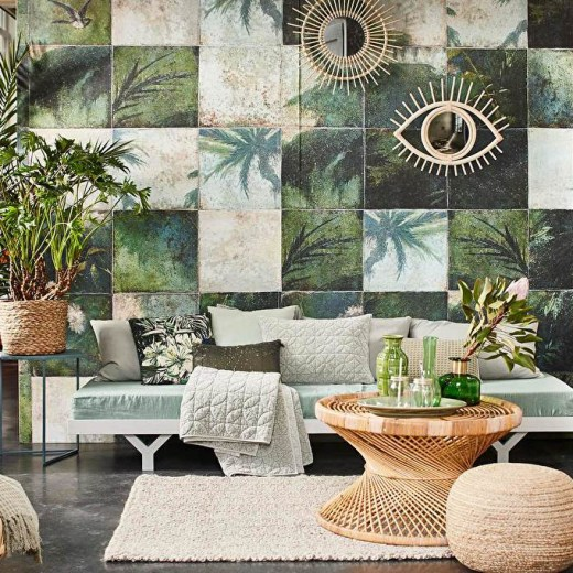 Exotic Damier -Tropical wallpaper - Transform your home into a tropical paradise | Aliz's Wonderland