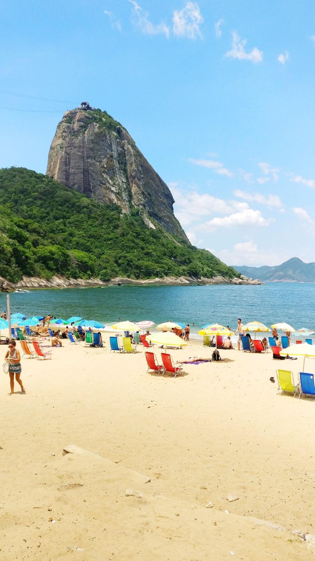 Praia Vermelha with the Sugarloaf mountain - Best beaches in Rio de Janeiro   Aliz's Wonderland