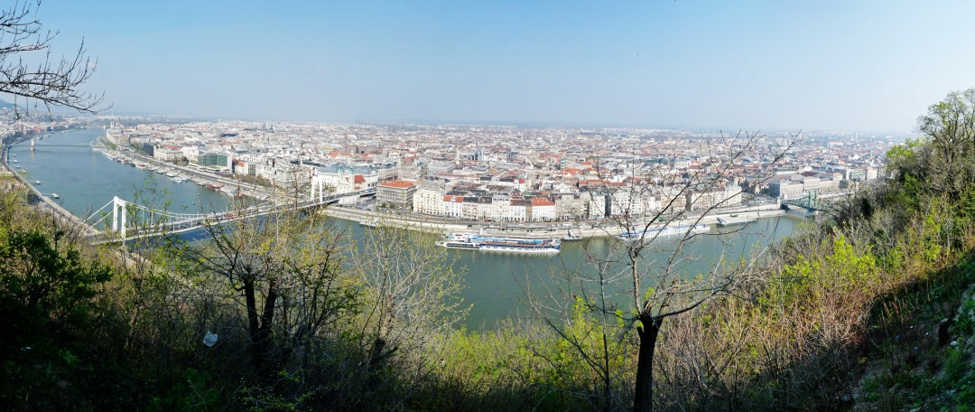Panorama from Gellért Hill - Top 5 viewpoints in Budapest Hungary, recommended by a local | Aliz's Wonderland