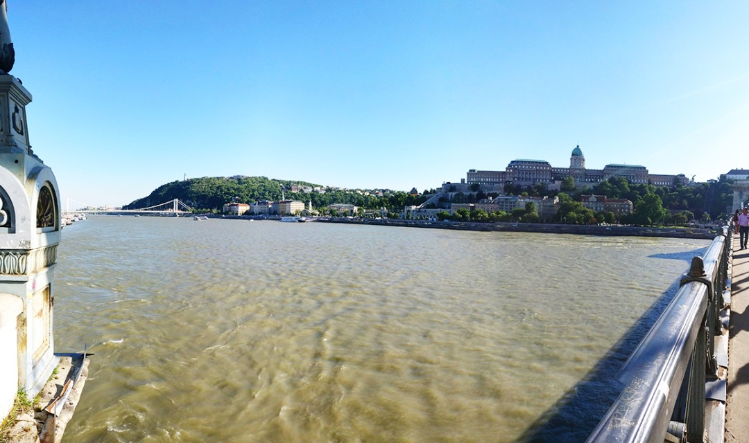 The view from the Chain bridge with the Royal Castle and Citadel - 40 reasons to fall in love with Budapest | Aliz's Wonderland