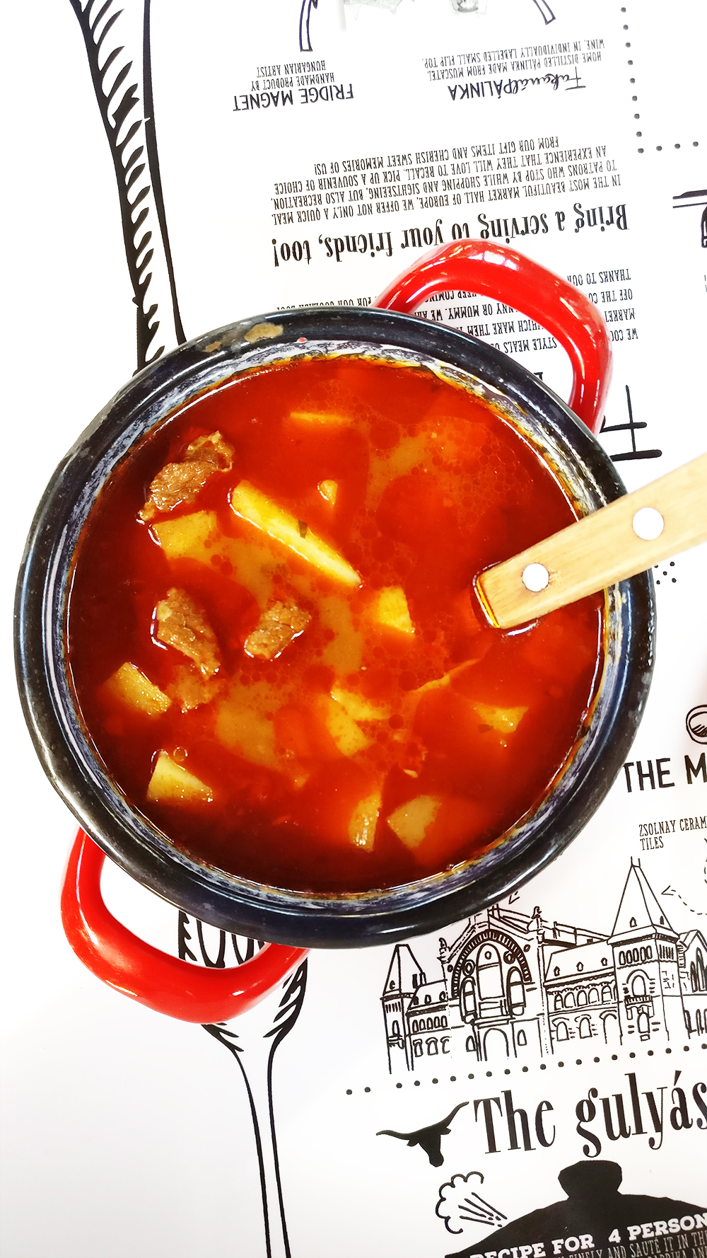 Goulash soup (gulyás leves), must-try Hngarian food - 40 reasons to fall in love with Budapest | Aliz's Wonderland