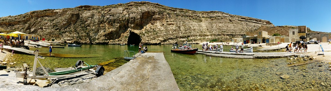 Inland Sea, a natural lagoon at Dwejra bay, Gozo - Best beaches in Malta | Aliz's Wonderland