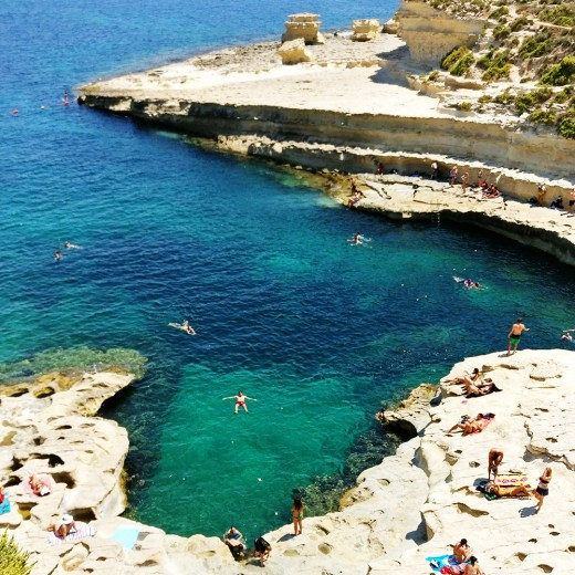 Best beaches in Malta - St Peter's Pool | Aliz's Wonderland