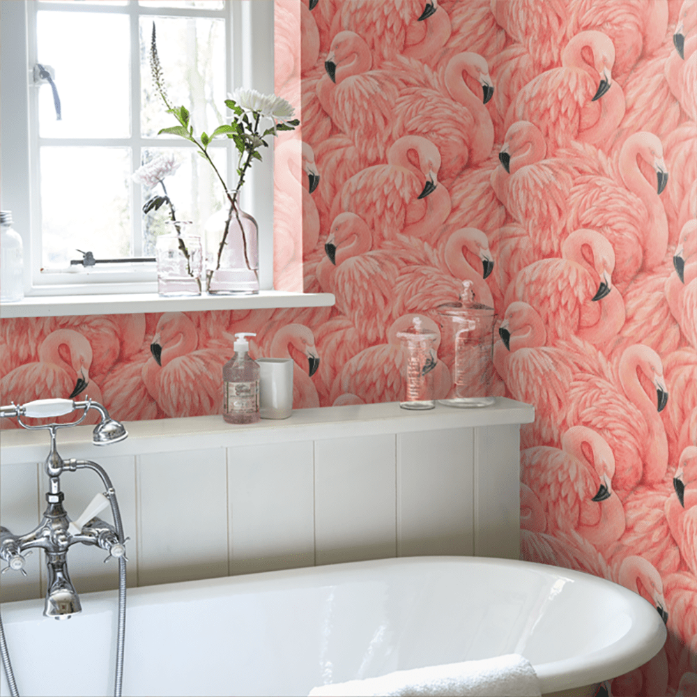 Flamingo wallpaper by Albany - Decorate your home with flamingos | Aliz's Wonderland