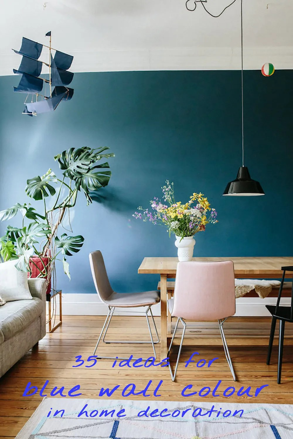 35 ideas for blue wall colour in home decoration | Aliz's Wonderland