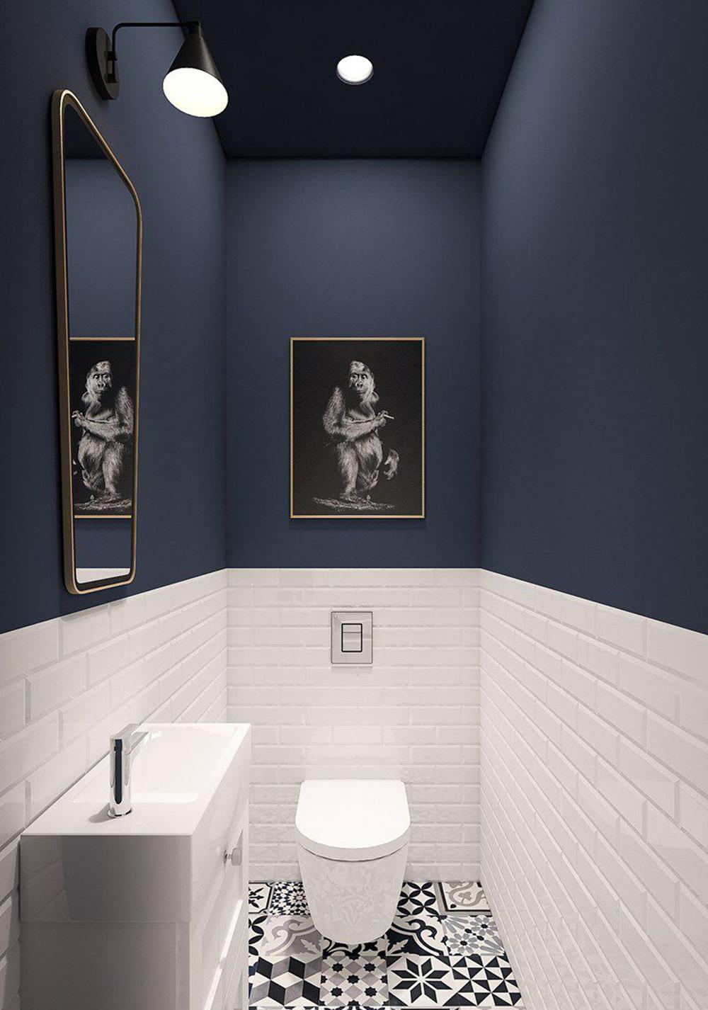 Azul marino en baños