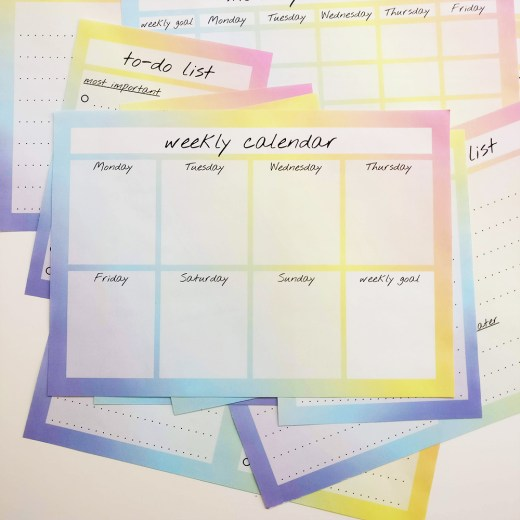 Crush your goals with my to-do list and calendars, download the free printables   Aliz's Wonderland #calendar #todolist #crushyourgoals #printable