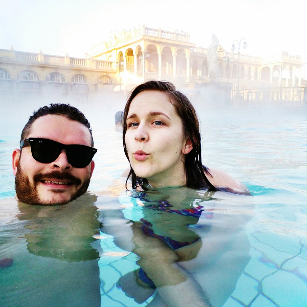 Relax in thermal baths, Széchenyi Bath - Budapest bucket list - Top things to do in Budapest | Aliz's Wonderland #travel #Budapest #bucketlist #Budapestbucketlist #printable