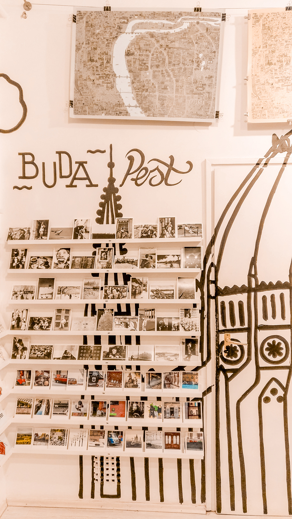Postcards in Rododendron Art & Design Shop - Budapest design shop guide to best Hungarian souvenirs | Aliz's Wonderland