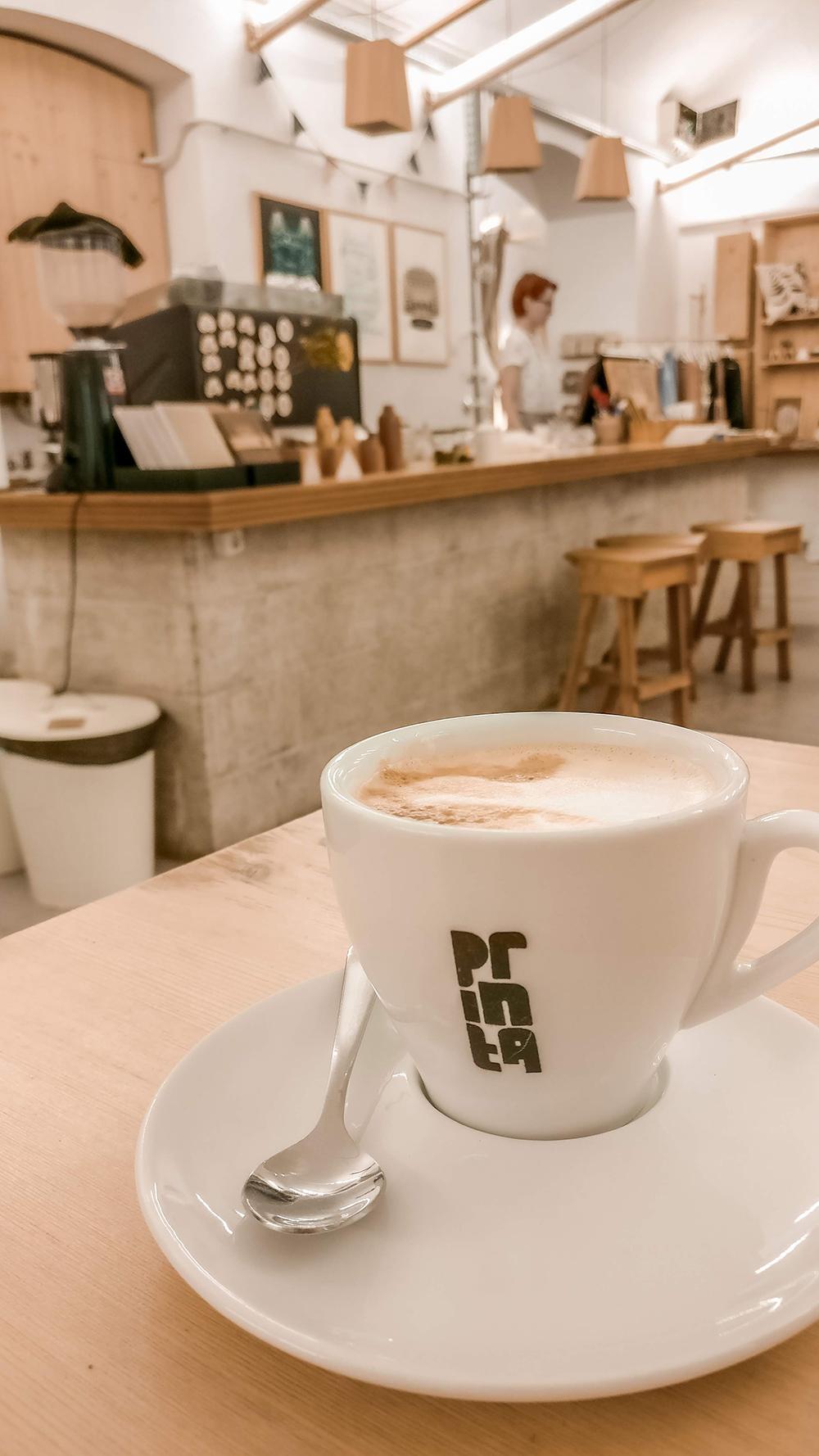 Enjoy a coffee in Printa Design Shop - Budapest design shop guide to best Hungarian souvenirs | Aliz's Wonderland