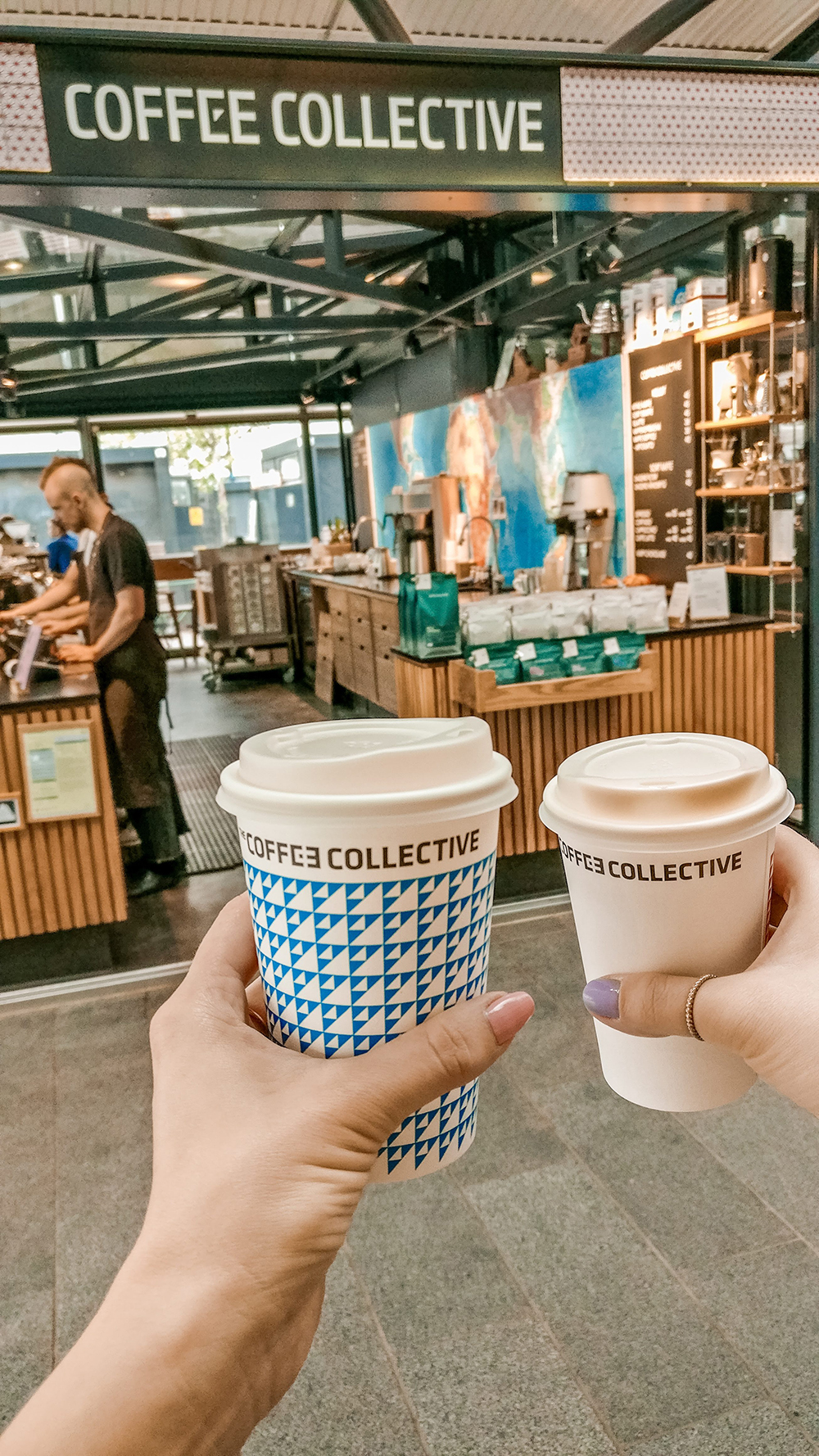 Coffee Collective at Torvehallerne food market - Copenhagen 3-day travel itinerary | Aliz's Wonderland