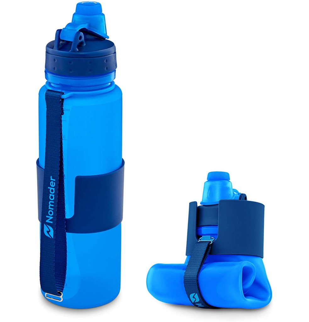 Nomader Collapsible Water Bottle - Useful gift ideas for travel lovers | Aliz's Wonderland