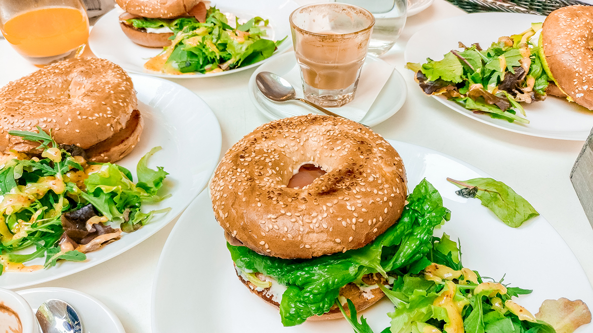 Salmon bagel at Briós - Budapest's best breakfast & brunch places - Jászai Mari square and Pozsonyi street | Aliz's Wonderland