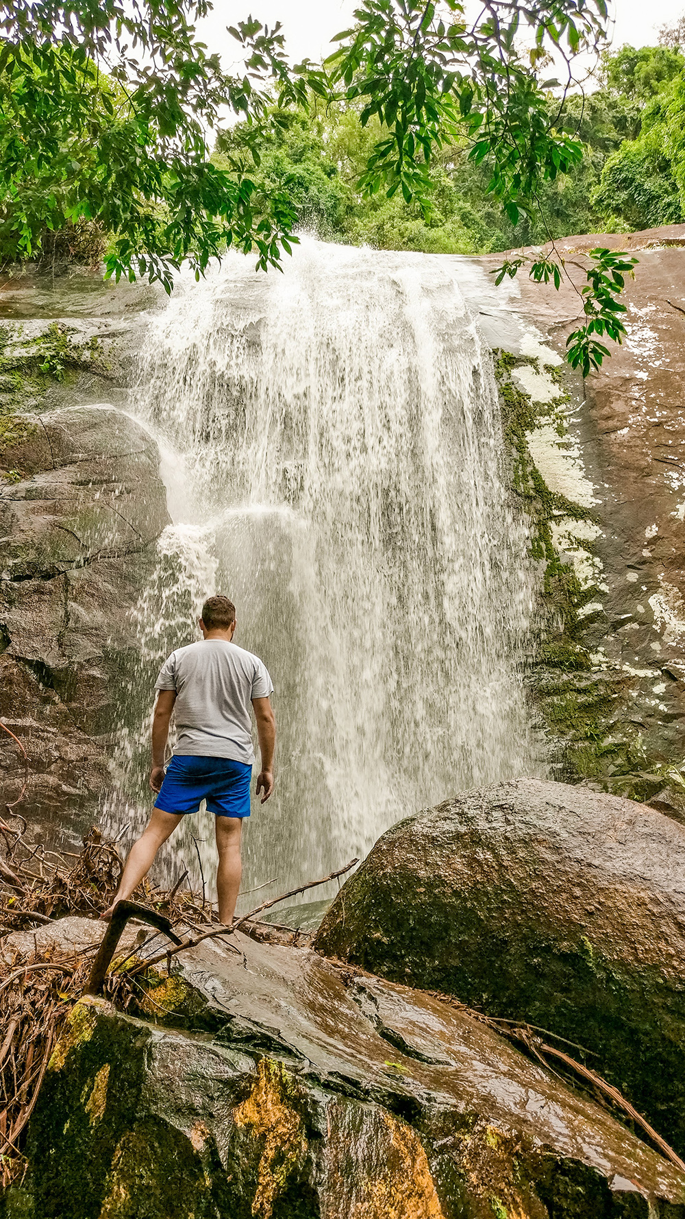 3rd drop of Cachoeira 3 tombos - How to spend 3 days in Ilhabela, Brazil? | Aliz's Wonderland